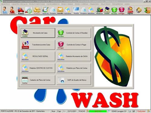 programa para lavagem automotiva com financeiro v2.0