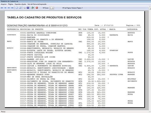 programa para marmoraria com vendas e financeiro v5.8 plus