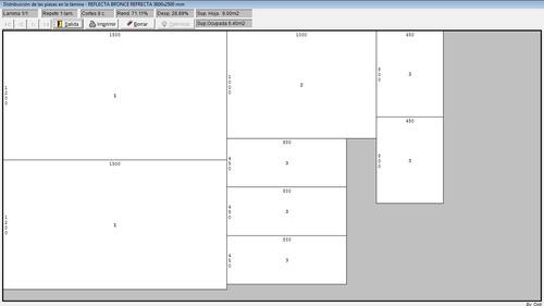 programa para modular hojas de vidrio o madera