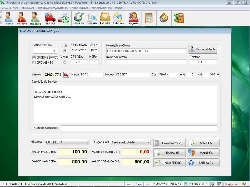 Programa para oficina mec nica e or amentos com placas v1 0 r 55 00 em mercado livre - Programas para oficina ...