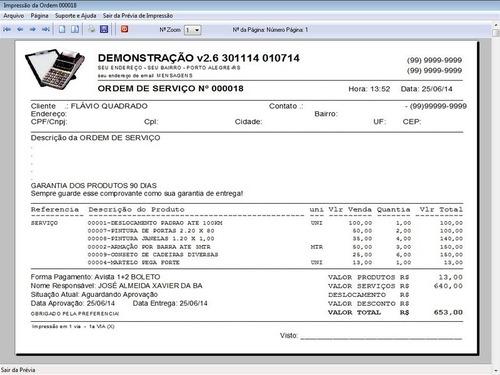 programa para ordem de serviço e orçamento diversos v2.6 fpq