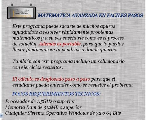 programa para resolver cualquier problema de matematicas
