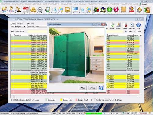 programa para vidraçarias e esquadrias + serviços v5.7 plus