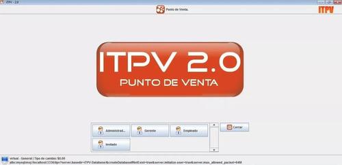 programa punto de venta restaurante, refaccionaria itpv 2