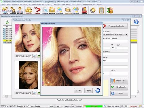 programa salão de beleza & estética + produtos 1.0 fpqsystem