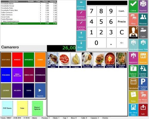 programa software gestión de restaurantes y bares v8