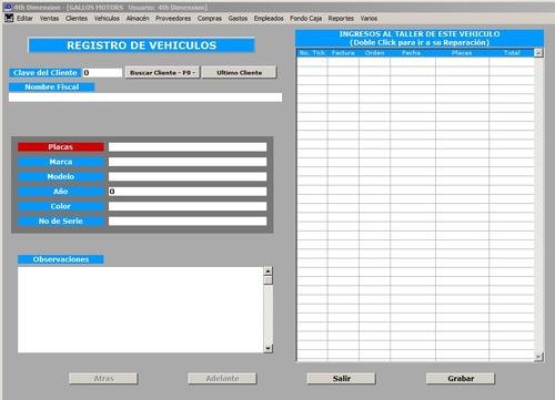programa (software) taller mecánico