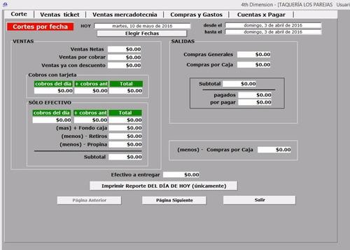 programa (software) taquerias. completisimo. fácil de usar