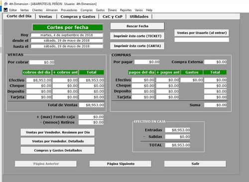 programa (software) tienda de abarrotes. minisuper