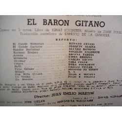 programa teatro colon cesari el baron gitano temporada 1942