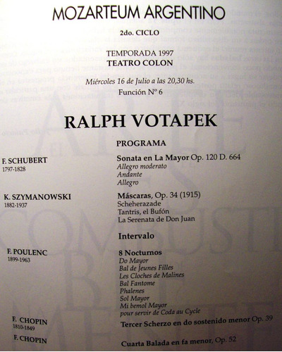 programa teatro colón concierto del pianista ralph votapek