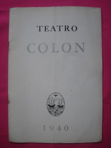 programa teatro colon temporada 1940 la hija del regimiento