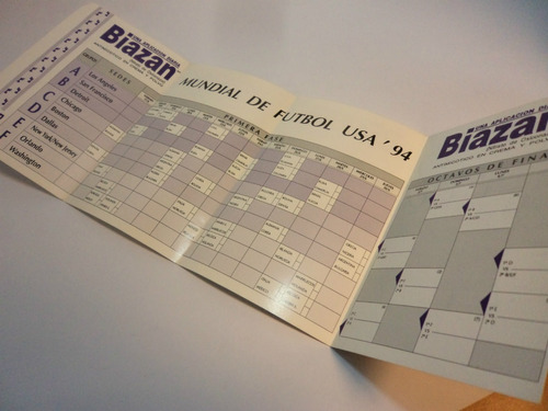 programa usa 1994 mundial futbol. biazan