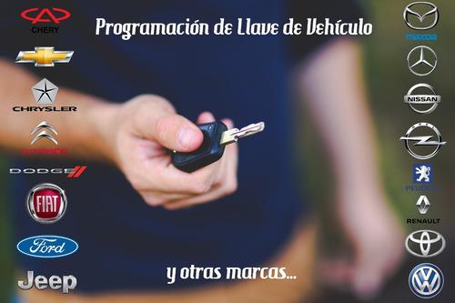 programación de llave de vehículo, y cerrajería en general.