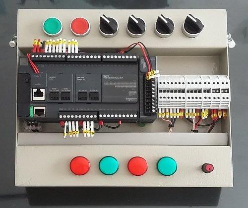 programación plc modicon m221 + diagrama de conexión gratis