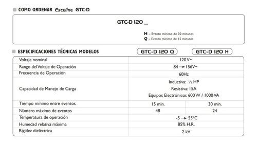 programador horario electromecanico enchufable exceline 120v