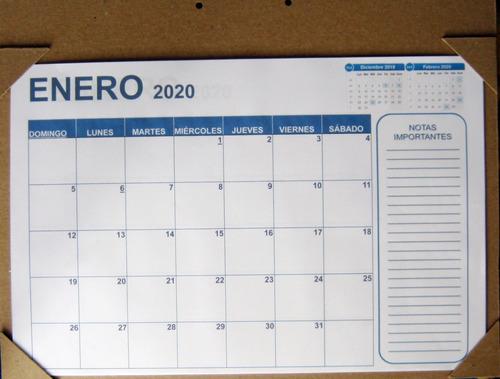 programador mensual planeador 2020 (tamaño a3) + notas