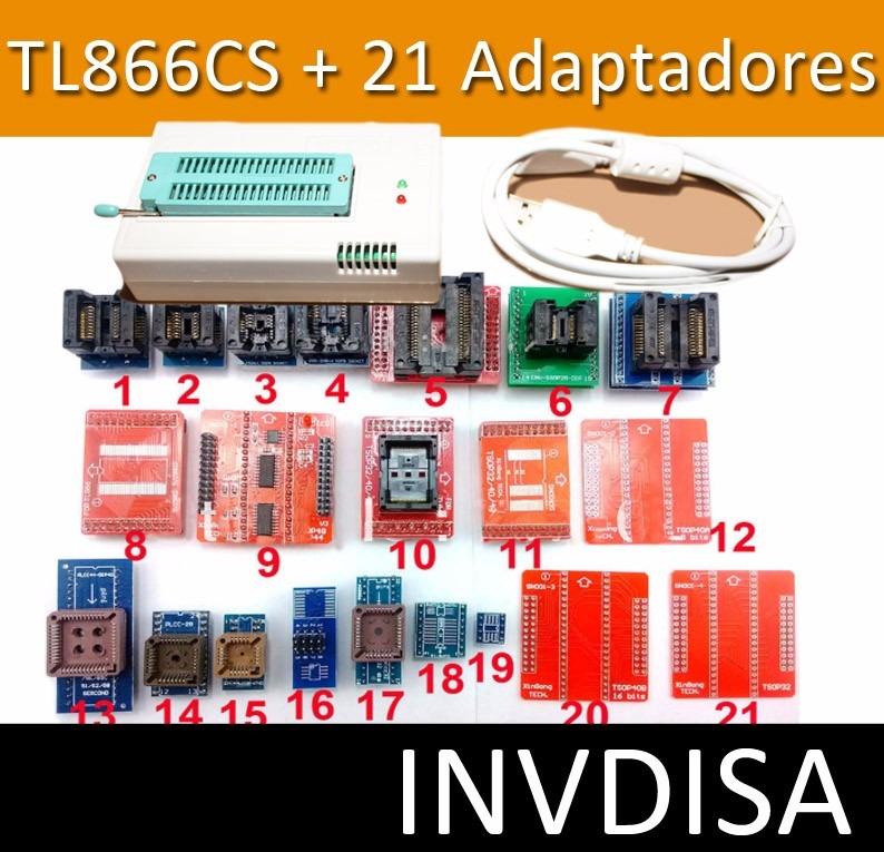 Programador Universal Atmel Gal Pic Tl866ii Plus + 21 Bases
