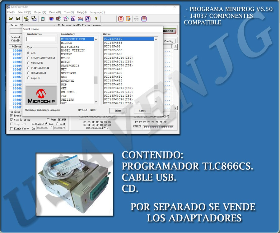 Programador Universal Tl866 Cs Eeprom Micro Memoria G2