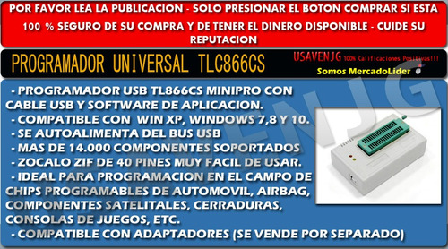 programador universal tl866 ii plus eeprom micro memoria g2