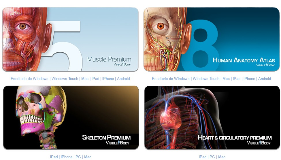 Programas 3d De Anatomía. 4 Softwares. - Bs. 400,00 en Mercado Libre