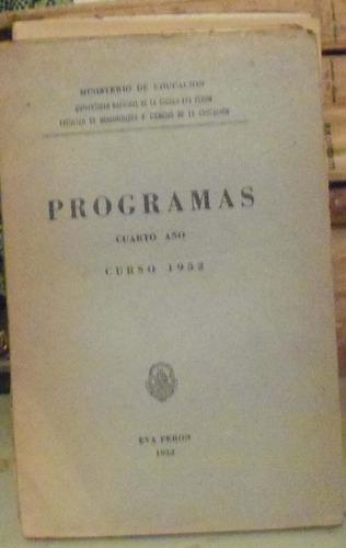 programas curso de 1952 - univ. nac. de la ciudad eva peron