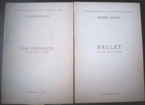 programas teatro colón 4 diferentes ver descripción