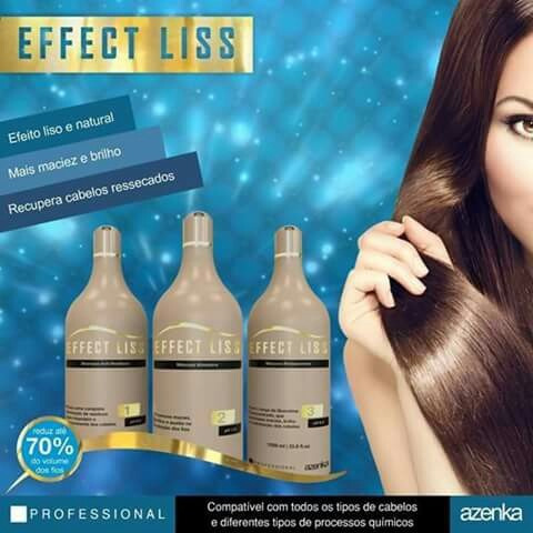 progressiva effect liss azenka 0 formol 1 litro frete gratis