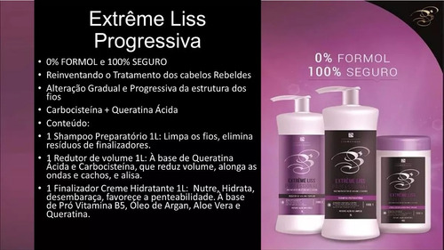 progressiva kit extreme liss professional blv 0% formol