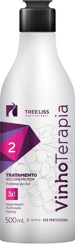 progressiva vinho terapia 3 passos - 3 x 500ml - tree liss