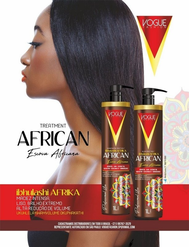 f68d2eb25d62d Progressiva African Vogue Fashion 2 Passos - Escova Africana - R  69 ...