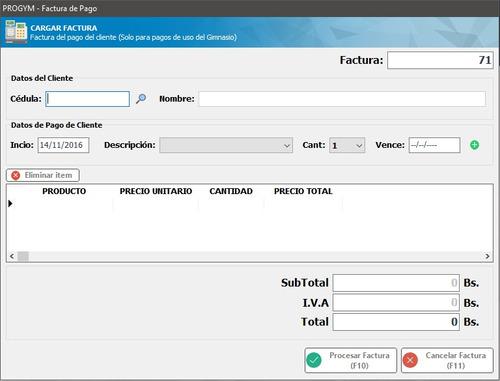 progym - sistema de gestión y control de gimnasios