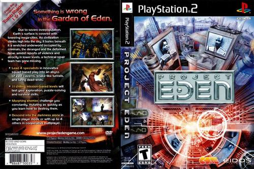 project eden - con caja y manual - playstation 2 ps2