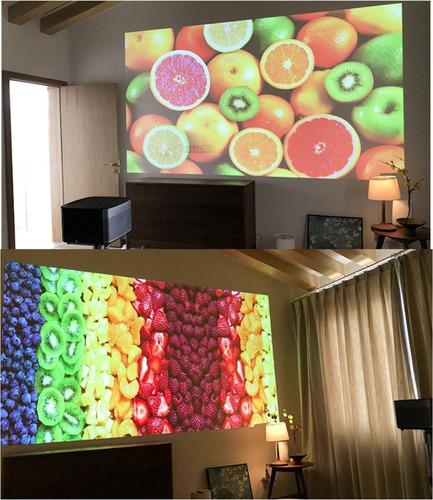 projector xgimi h2 dlp 1350 ansi lumens 3d 4k + 2 óculos