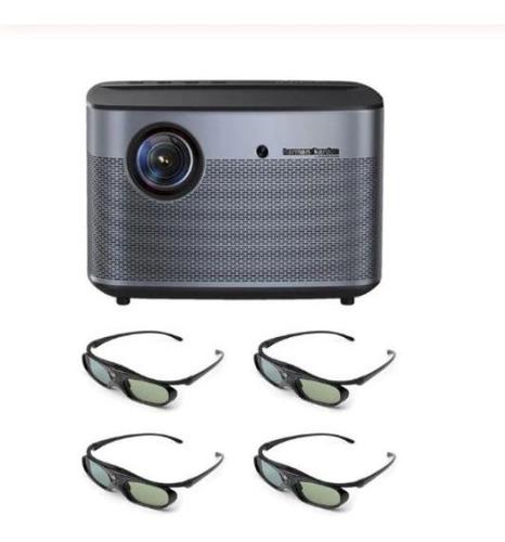 projector xgimi h2 dlp 1350 ansi lumens 3d 4k + 4 óculos