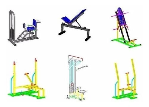 projeto aparelho academia fitness 70 projetos k