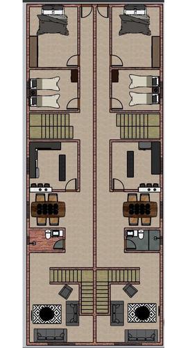 projeto arquitetônico: planta 3d