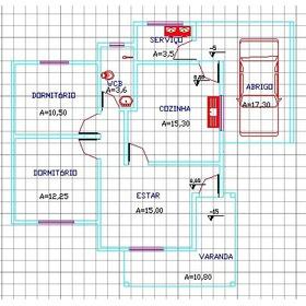 Projeto Arquitetônico Casa Residencial 100 Metros Quadrados