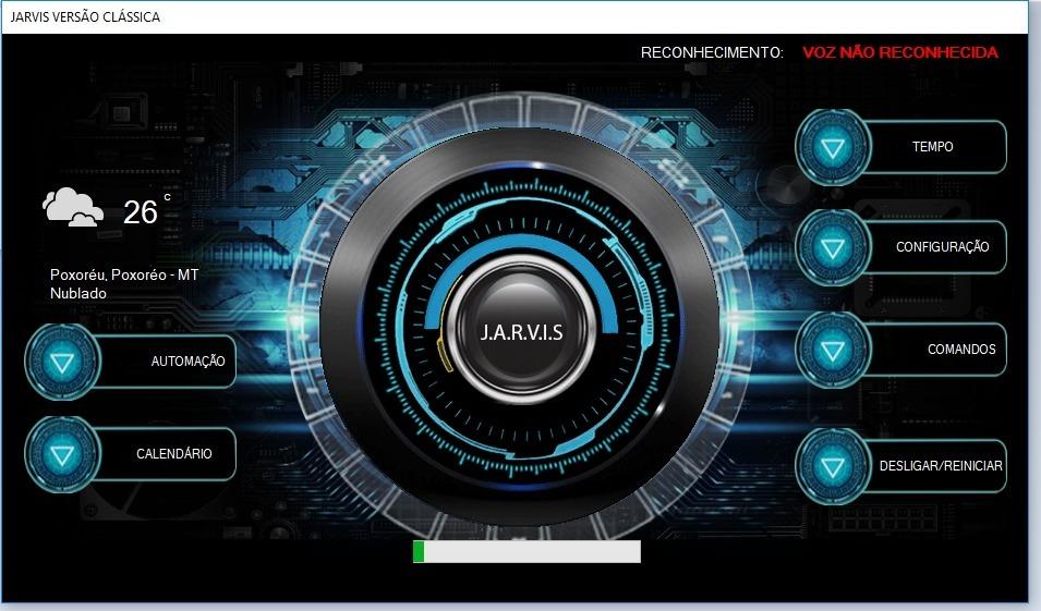 Projeto Assistente Virtual Jarvis Do Homem De Ferro