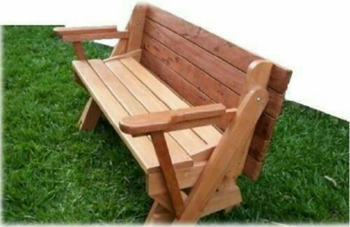 Projeto banco vira mesa de madeira fa a voc mesmo for Sofa que vira beliche onde comprar