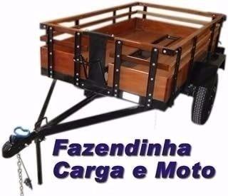 projeto carretinha carga reboque fazendinha carro serralheir