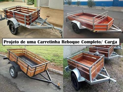 projeto carretinha reboque envio gratis