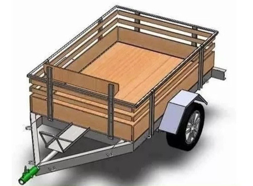 projeto carretinha reboque trailer p/ lanches food truck