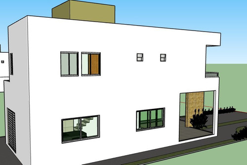 projeto - casa 1° andar / sala íntima, varanda e cozinha