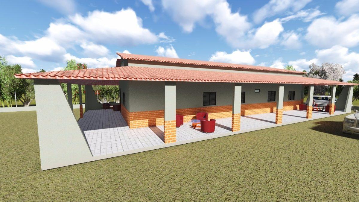 Projeto casa sitio varanda 3d 12 99 x24 79m planta casa for Paginas de casas