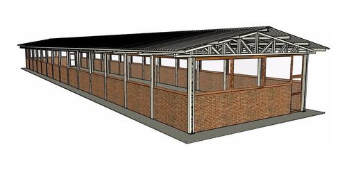 projeto completo de uma granja para criação de frango