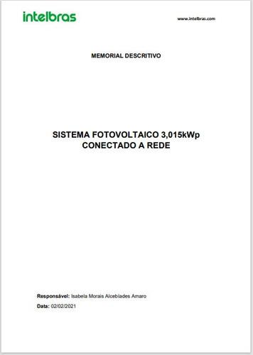 projeto completo para homologação de energia fotovoltaica