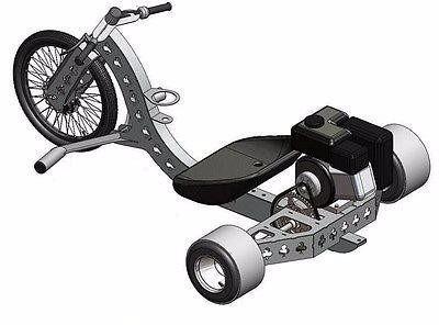 projeto completo triciclo drift trike motorizado +600 brinde