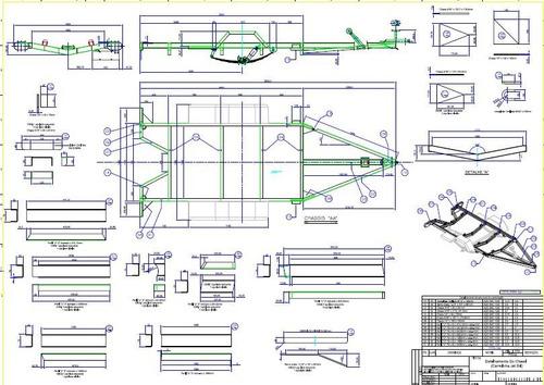 projeto de carreta jet ski para um e dois passageiros