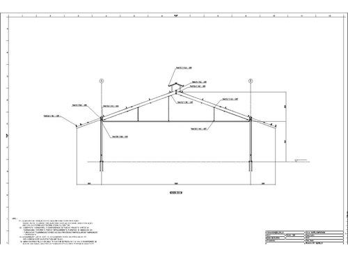 projeto de compost barn 24,00m x 73,00m